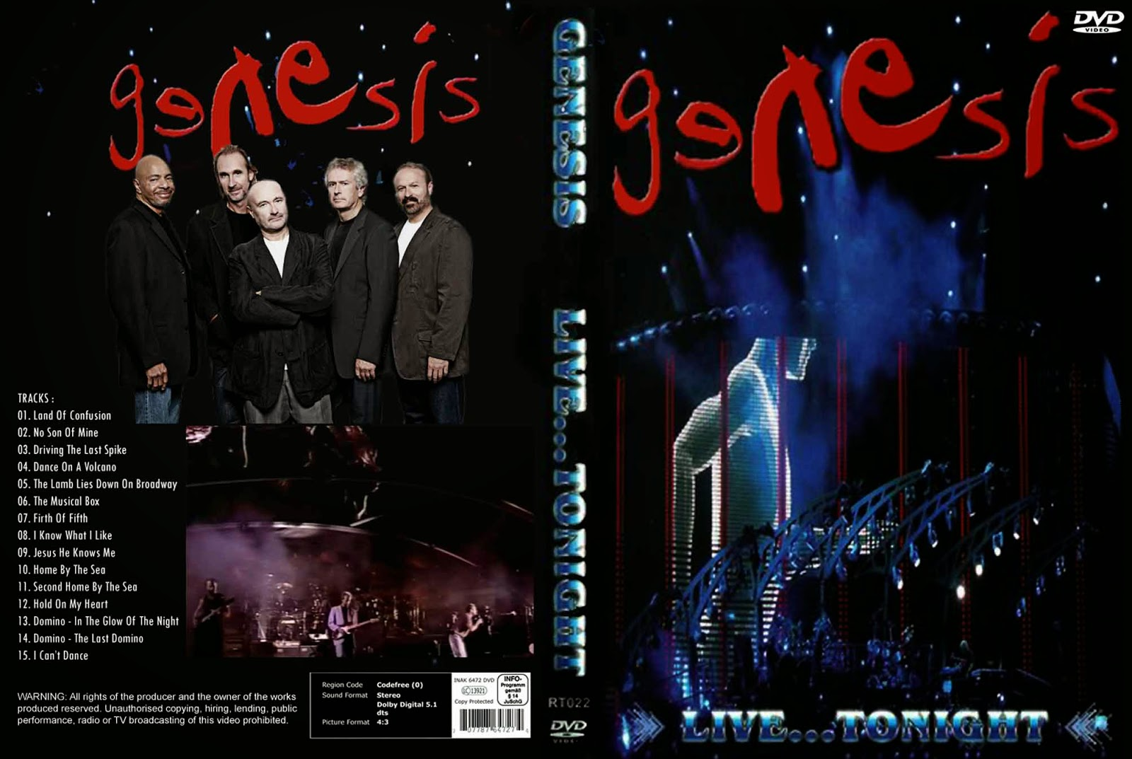 Youdiscoll Genesis Live Tonight 1998 2011